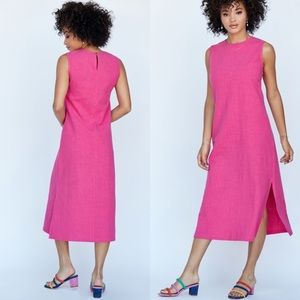 NWT Callahan Linen James Pink Dress | S
